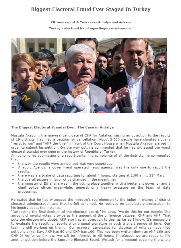 Biggest Electoral Fraud Ever Staged In Turkey 4 April 2014 - 1