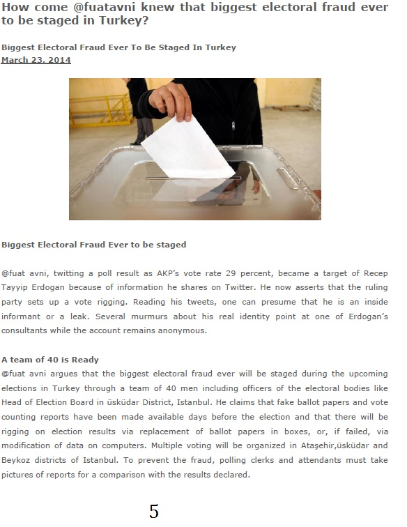Biggest Electoral Fraud Ever Staged In Turkey 4 April 2014 - 5