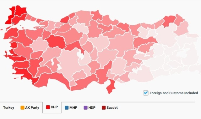 CHP Votes - Elections 2015