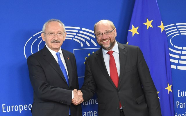 Meeting between European Parliament President Schulz and CHP President Kılıçdaroğlu
