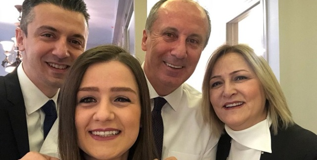 Muharrem Ince is with his family